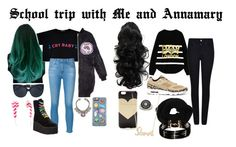 """""""School trip with..."""" by allisjess ❤ liked on Polyvore featuring AG Adriano Goldschmied, R13, Linda Farrow, Armani Jeans, NIKE, Wyatt, J.Crew, Sydney Evan, Topshop and Forever 21"""