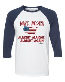 UNISEX 3/4 SLEEVE BASEBALL TEE   52% Combed and Ring-Spun Cotton, 48%…