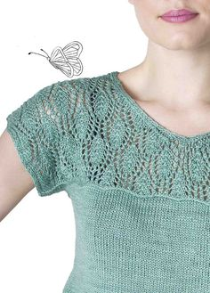 Ravelry: Waterlily pattern by Meghan Fernandes stricken, Waterlily pattern by Meghan Fernandes Lace Knitting Patterns, Knitting Blogs, Free Knitting, Crochet Clothes, Pulls, Ravelry, Knitwear, Knit Crochet, Sweaters