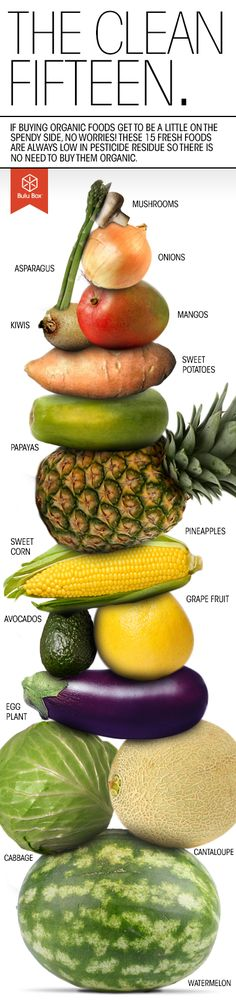 The Clean 15 #fresh #fruits #vegetables