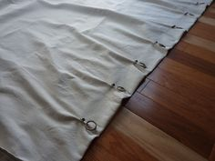 new-sew dropcloth curtains with clips and rings