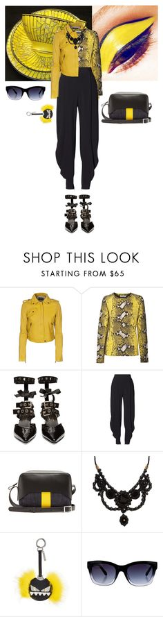 """""""Untitled #841"""" by krahmmm ❤ liked on Polyvore featuring Current/Elliott, Equipment, Robert Clergerie, Ralph Lauren, TIBI, Gucci, Fendi and Kate Spade"""