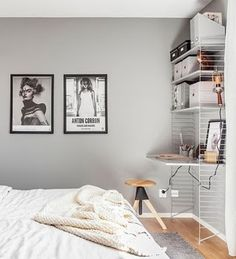 Bedroom in grey and pastels - via Coco Lapine Design