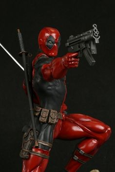 Full Size Statue of Marvel Comics' Deadpool by The Kucharek brothers.