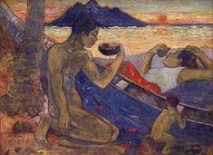 The Canoe A Tahitian Family 1896 | Paul Gauguin | oil painting