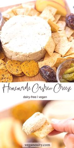 #cashewcheese #ingredient #nutcheese #dairyfree #appetizer #delicious #crackers #homemade #... Nut Cheese, Cashew Cheese, Dairy Free Pumpkin Pie, Crackers, Cereal, Appetizers, Homemade, Vegan, Breakfast
