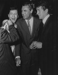 Cary Grant between Jerry Lewis and Dean Martin.