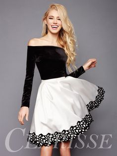 Homecoming dresses black and white