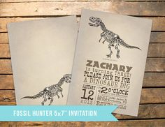 Vintage Dinosaur Fossil Party Pack - Invitation PLUS 16 Items -  featured on Hostess With The Mostess