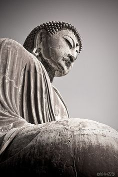 The great Buddha statue in Kamakura, Japan