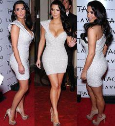 Kim Kardashian wears Marc Bouwer Couture