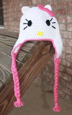 Hello Kitty Crochet Toddler Hat by darcy