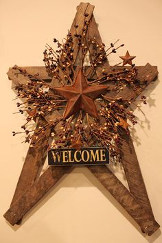 Hey, I found this really awesome Etsy listing at https://www.etsy.com/listing/523670075/large-tobacco-lath-country-star-with-pip