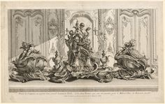 Works of Juste-Aurèle Meissonier: Silver Sculptural Project for a Large Centerpiece and Two Tureens Which Have Been Executed for His Lordship the Duke of Kingston, c. 1735-1737 Gabriel Huquier (French, 1695-1772), after Juste-Aurèle Meissonnier (French, 1695-1750) etching, Sheet: 42.00 x 66.80 cm