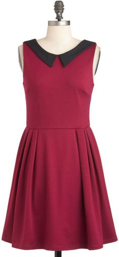 Modcloth Life Imitates Heart Dress in Pink (fuchsia) - Lyst. Has a heart cut-out in the back with the snap at the top.