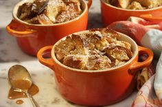 Peanut Butter Breakfast Bread Pudding with Maple-Peanut Sauce