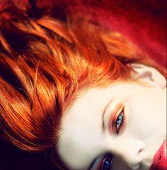 Inferno love this orange eye shadow on her