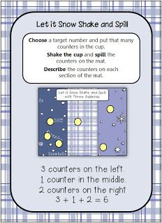 Math Coach's Corner: Let it Snow: Shake and Spill with THREE Addends