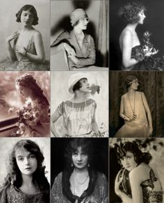 1920's I chose this picture because it shows all the different types of styles girls had in the 1920s.