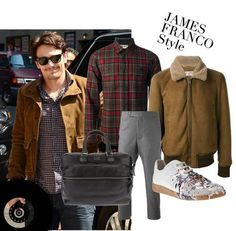 James Franco Style. I like the pinterest collage! :)