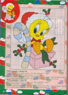 punto croce Natale Disney on Pinterest   Tweety, Punto cruz and Punto