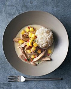 Thai Coconut Chicken with Pineapple Salsa Recipe