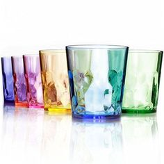 Best Kitchen Cart | 13 oz Premium Drinking Glasses  Set of 6  Unbreakable Tritan Plastic  BPA Free  100 Made in Japan Assorted Colors *** Find out more about the great product at the image link.(It is Amazon affiliate link) #10likes