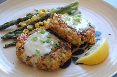 Baltimore style chickpea cakes. Chickpea cakes with scallion mayo dressing
