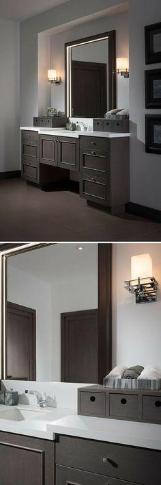 Dark Bathroom Vanity By Wood Mode Http://www.CabinetsAndDesigns.net