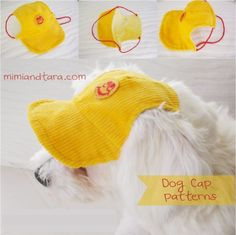 This summer protect your pooch from the heat and bright sunlight sewing a dog cap with these free patterns. DIY with simple instructions!