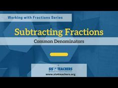 Subtracting Fractions with Common Denominators - YouTube