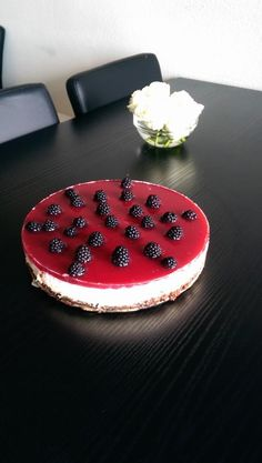 Lime Mango Raspberry Blackberry Cheesecake