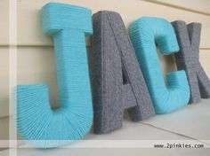 Thrifty Craft Thursday: Yarn Letters - Beckett Baby Name - Ideas of Beckett Baby Name - Thrifty Craft Thursday: Yarn Letters Yarn Wrapped Letters, Yarn Letters, Diy Letters, Diy Adult, Diy Crafts For Adults, Weekend Crafts, Yarn Projects, Yarn Crafts, Craft Gifts