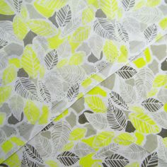 Dress Fabric Leaf Print Decorative White Sewing Supplies 58 Inch Cotton By The Yard ZBC7547A