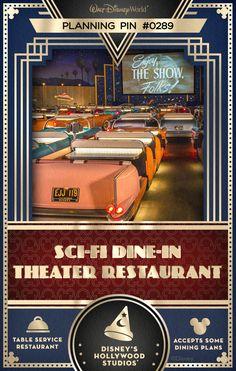 Walt Disney World Planning Pins: Sci-Fi Dine-In Theater Restaurant