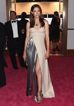 The touch of metallic in Michelle Monaghan's dress was a stunner.