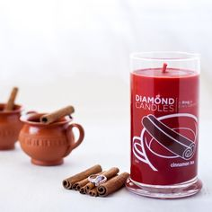 Cinnamon Tea Ring Candle - Diamond Candles - Home Fragrance Made Fun and Hassle Free Tea Candles, Fall Candles, Scented Candles, Cinnamon Tea, Cinnamon Candles, Diamond Candles, Candle Rings, Love Is In The Air, Pomegranate