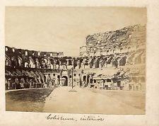 Albumen Photograph ITALY Colliseum Interior About 1860 ROME