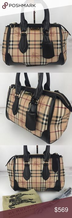 6a4f7ad26d0 Burberry Plaid Gladstone Chocolate Tote 3870759 Authentic Burberry Style  3870759. Gently used with care card and crossbody strap. Some minor marks  from use ...