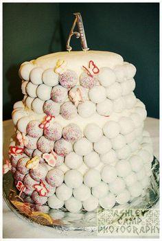 Wedding Cake Ball Cake-Summer Theme.