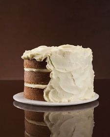 Vegetable cakes (such as carrot and zucchini) are the perfect platform for swoops of this tangy cream cheese frosting.