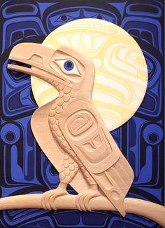 Raven & The Moon PanelJ Bradley HuntHeiltsuk  Red Cedar