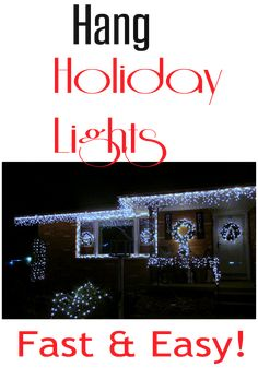 Super clever way to make hanging holiday lights a piece of cake, year after year!