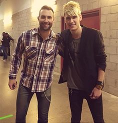 Adam Levine and Colton Dixon in the same picture! The best of both worlds :)