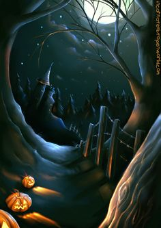 Halloween Fantasy Art | Happy Halloween!, Aileen Pettigrew, SciFi Fantasy Art