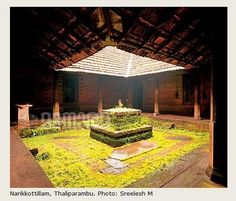 Kerala Traditional House, Traditional House Plans, Traditional Homes, Village House Design, Kerala House Design, Chettinad House, Kerala Architecture, Patio Central, Model House Plan
