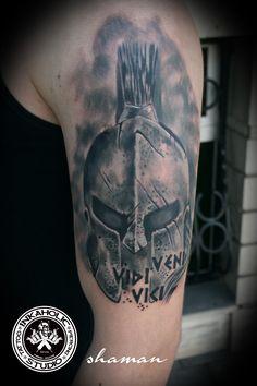 spartan helmet tattoo