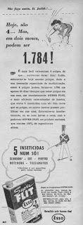 """Reinou absoluta nos anos 40-50-60. Era um aparelho de lata, bem simples, que se usava para matar pernilongos (que havia às pencas, em todos os lugares). Mas era usado, também, contra outros bichinhos (como baratas) que ousavam entrar em nossas casas. Enchia-se o """"reservatório"""" de inseticida """"FLIT"""" (a mais famosa na época) ou """"DETEFON"""" e partia-se para a """"guerra"""", sob o comando vigoroso do chefe da família."""