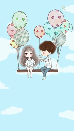 Express your exact mood with these so-adorable and cute cartoon couple love images hd. drop us your feedback and ideas about these incredible and innocent Cute Chibi Couple, Love Cartoon Couple, Cute Love Couple, Girl Cartoon, Art Anime Fille, Anime Art Girl, Cute Love Wallpapers, Cute Cartoon Wallpapers, Phone Wallpapers