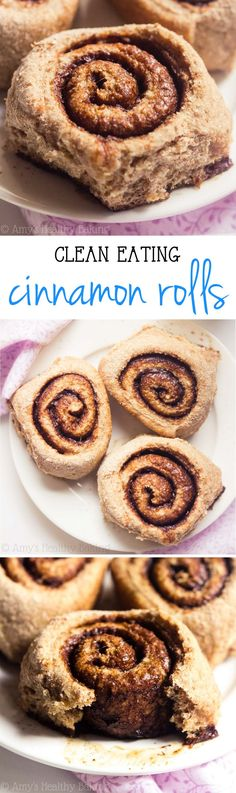 Skinny Cinnamon Rolls -- just 112 calories! My family called these the BEST they've ever had! They don't taste healthy at all! Great for Mother's Day!